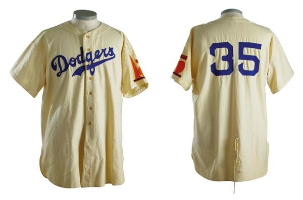 online store a8157 d4171 1938 Babe Ruth Game Worn Brooklyn Dodgers Jersey