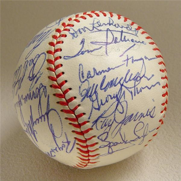 Mint 1970 Boston Red Sox Team Signed Baseball w/ Tony C.