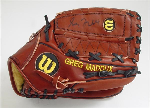 Greg Maddux Game Used Glove