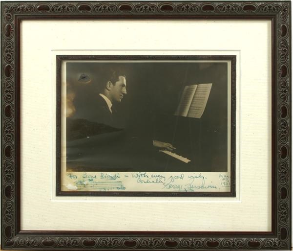 George Gershwin Signed Photograph with Musical Quotation