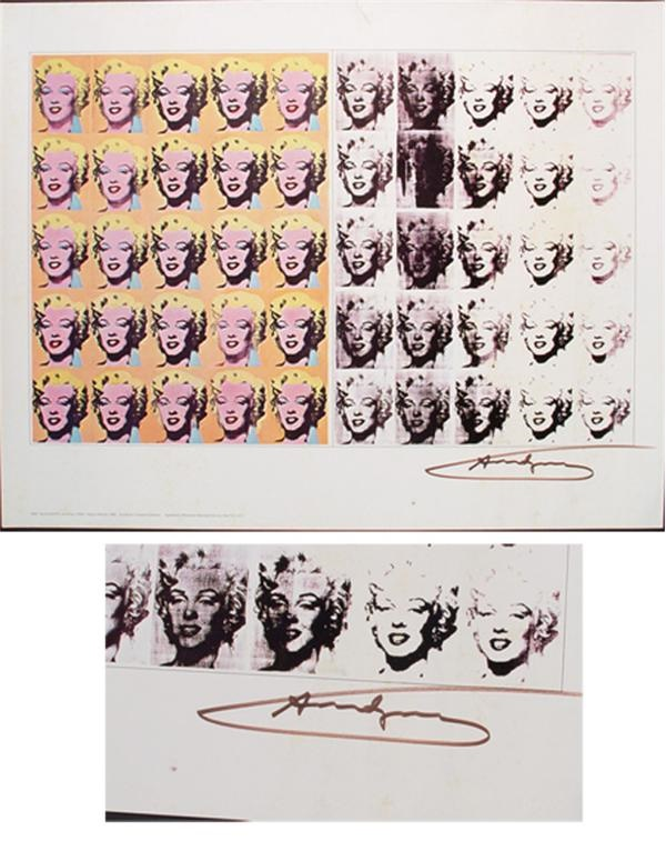 Andy Warhol Signed Marilyn Monroe Poster