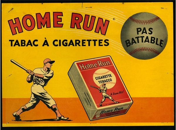 Home Run Cigarettes Sign