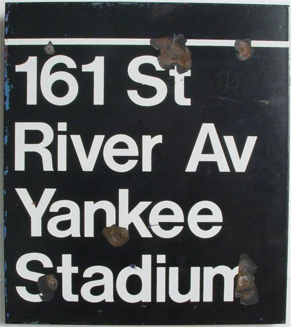 Yankee Stadium New York City Subway Sign