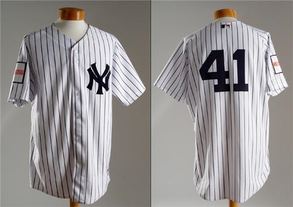 2004 Miguel Cairo New York Yankee Game Used Japan Tour Jersey