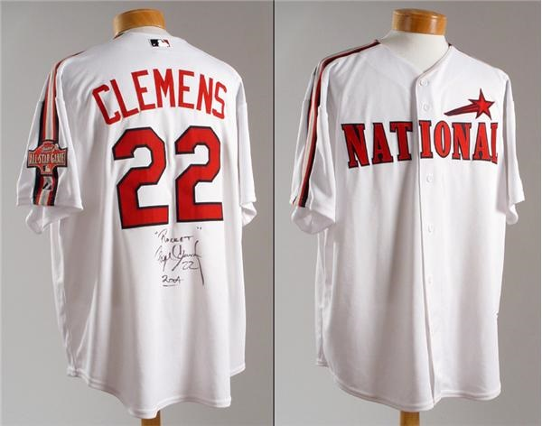 2004 Roger Clemens Pre Game All Star Worn Jersey