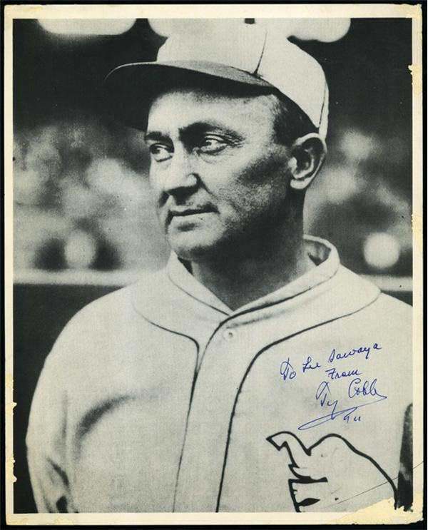 Ty Cobb Signed Photo