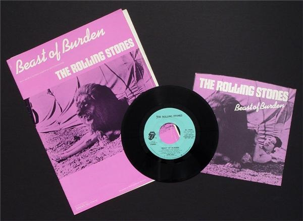 Beast of Burden Picture Sleeve and Sheet Music (3)