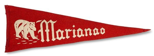 1946-47 One-Yeat Style Marianao Pennant from Minnie Minoso