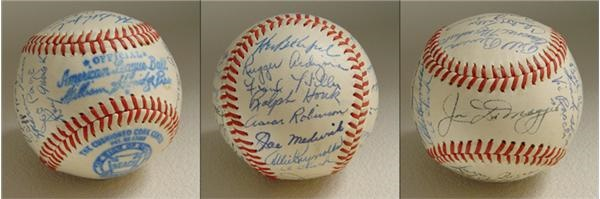 1947 New York Yankee Team Signed Baseball