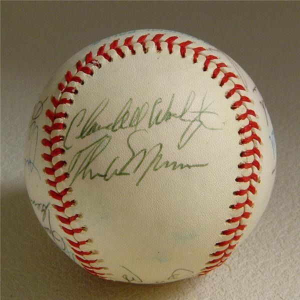 1975 American League All Star Team Signed Baseball