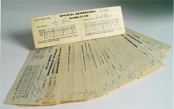 1964 Oklahoma City Open Professional Golf Tournment Score Cards with Arnold Palmer (140)
