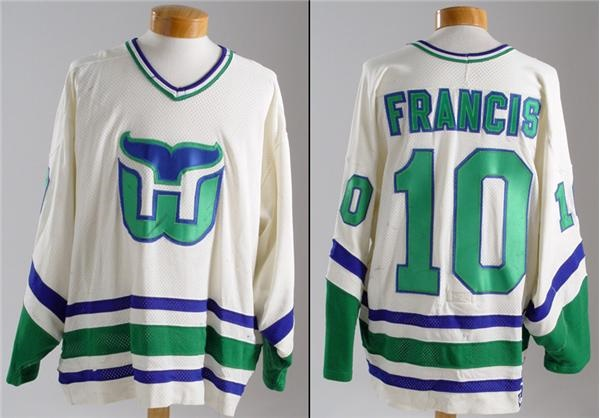 1990-91 Ron Francis Hartford Whalers Game Worn Jersey