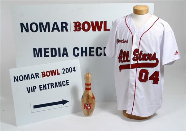Nomar Bowl Personal Shirt and Bowling Pin