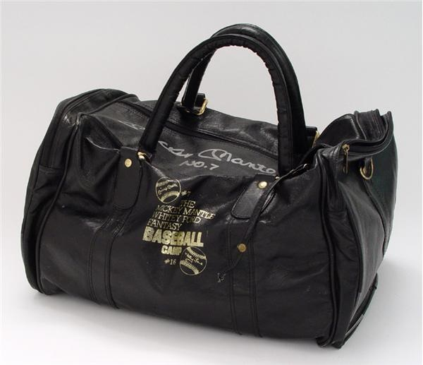 Mickey Mantle's Autographed Personal Travel Bag