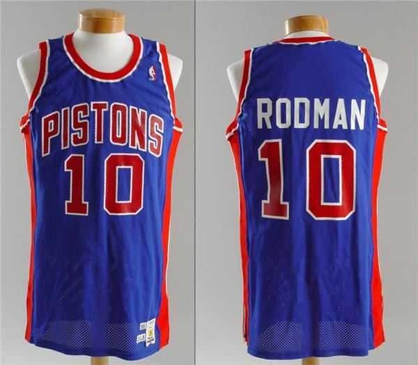 official photos 80507 97ea3 1988 Dennis Rodman Pistons Game Used Jersey