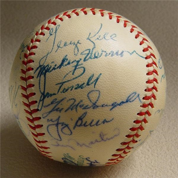 1956 American League All-Star Team Signed Baseball