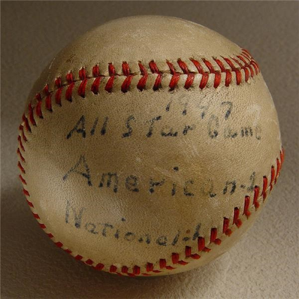 Game Used Baseballs - auction