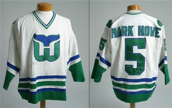 best loved 2a9d3 640fa 1980-81 Mark Howe Game Used Hartford Whalers Jersey
