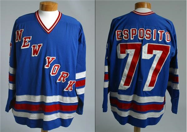save off 550a1 c6e4d 1979-80 Phil Esposito New York Rangers Game Worn Jersey