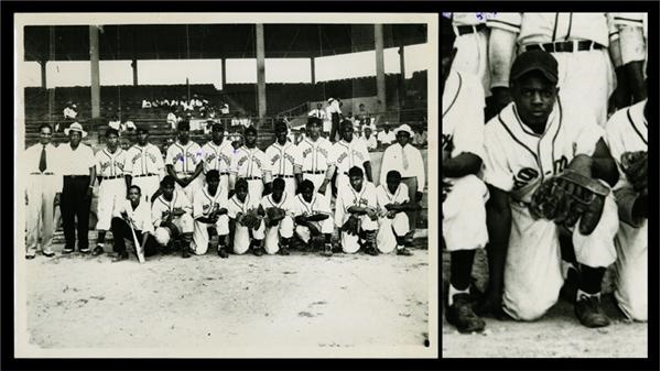 1946 Chattanooga Choo-Choos Earliest Known Willie Mays Team Photo