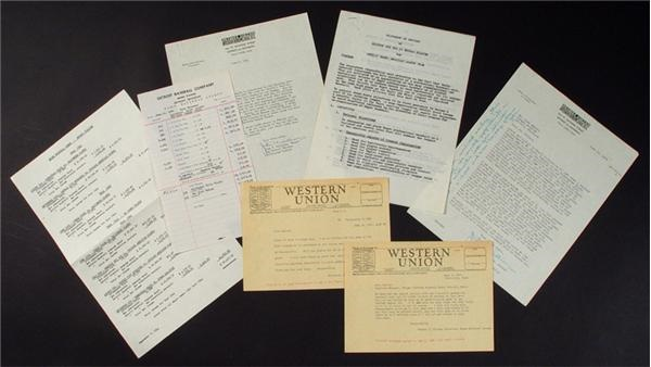 1940's Negro League Letters and Documents (22)