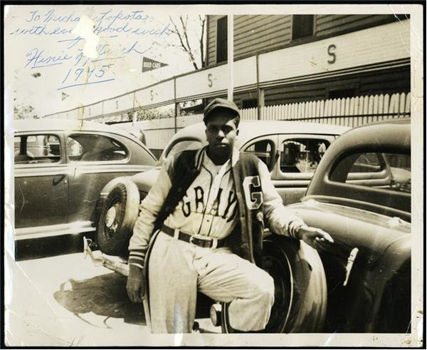 1945 Homestead Grays Signed Photo