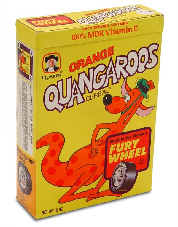 Quangaroos Cereal Box