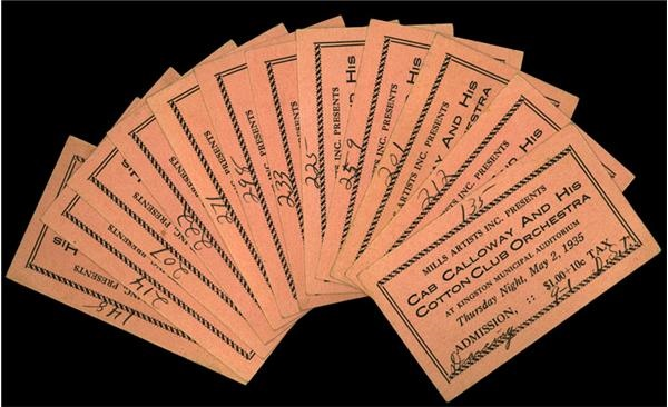 Cab Calloway Cotton Club Tickets(32)