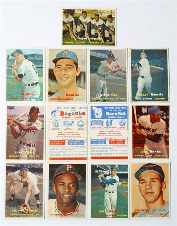 Lot of eleven (11) Topps Hall of Fame Vintage Cards