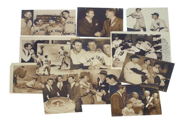 Vintage Lot of Joe DiMaggio Wire Photos (12)