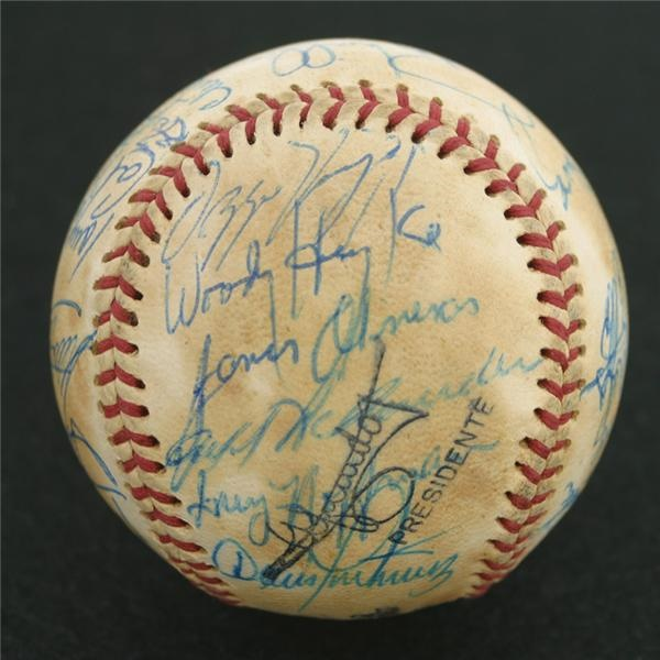 RARE Cal Ripken Jr. Signed Puerto Rican League Team Baseball