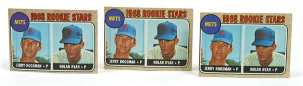 Nolan Ryan Rookie Card Lot (3)