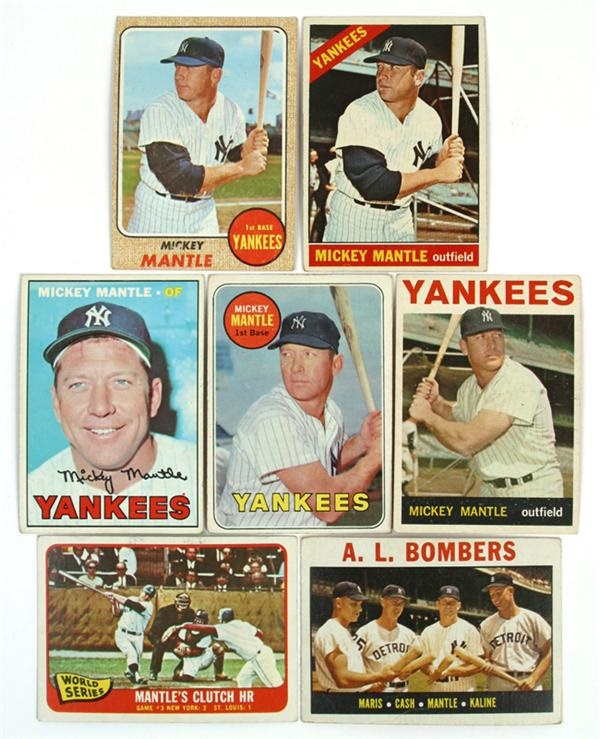 Mickey Mantle 1960's Topps Collection (7)