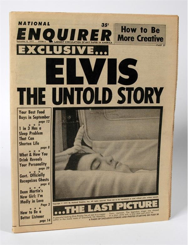 Elvis National Enquirer with Picture from Funeral