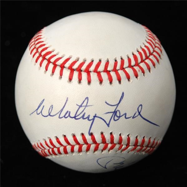 Mickey Mantle & Whitey Ford  Autographed Baseball