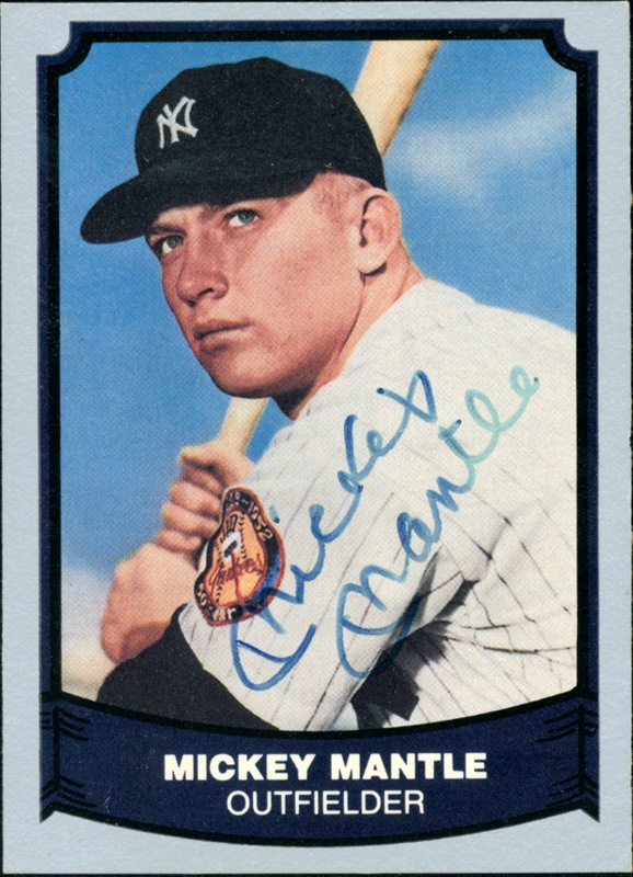 Mickey Mantle Autographed Trading Card