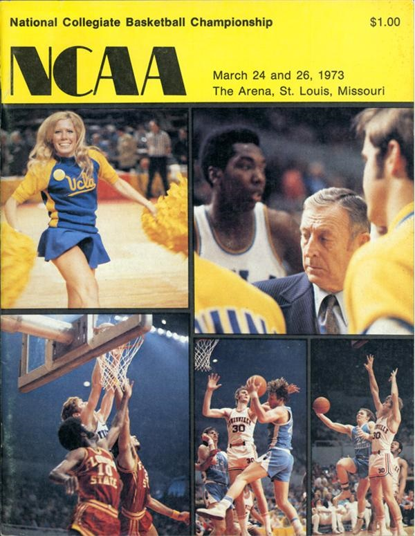 1973 NCAA Scarce Final Four Program