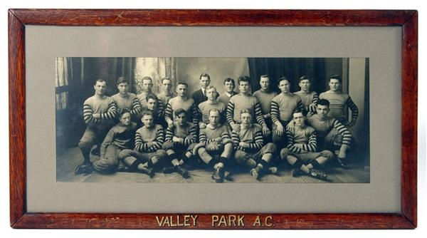 1915 Valley Park Athletic Club Football Photo with Original Notated Frame (7