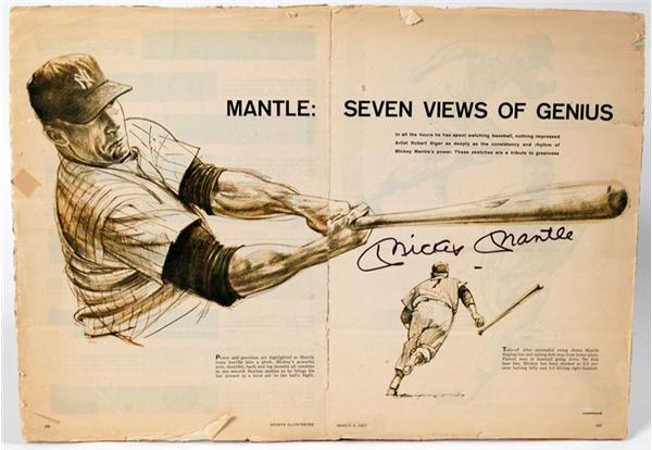 1957 Mickey Mantle Sports Illustrated Signed Gatefold