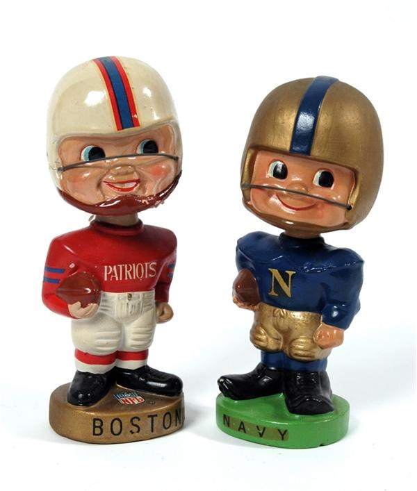 1960s Boston Patriots & Navy Bobbing Heads