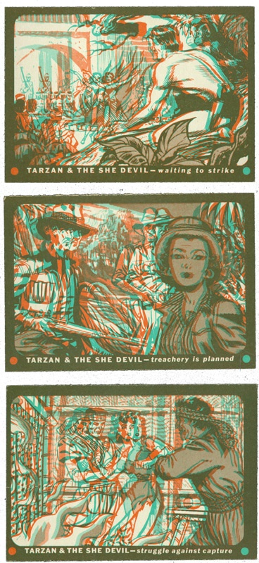 Collection of 26 1953 Topps Tarzan & The She Devil 3-D Cards
