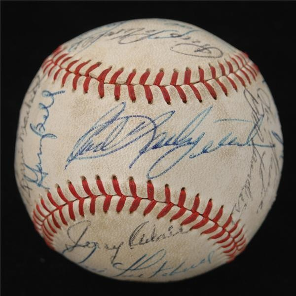 1968 Boston Red Sox Team Signed Baseball