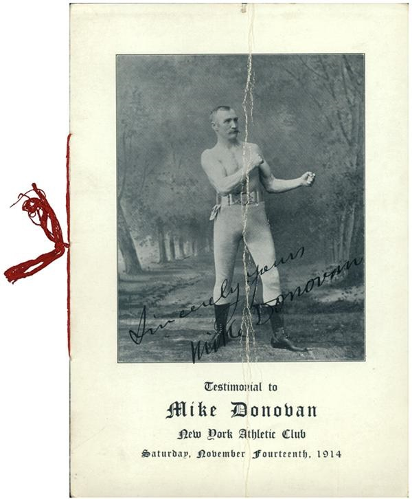 1914 Mike Donovan Testimonial Program