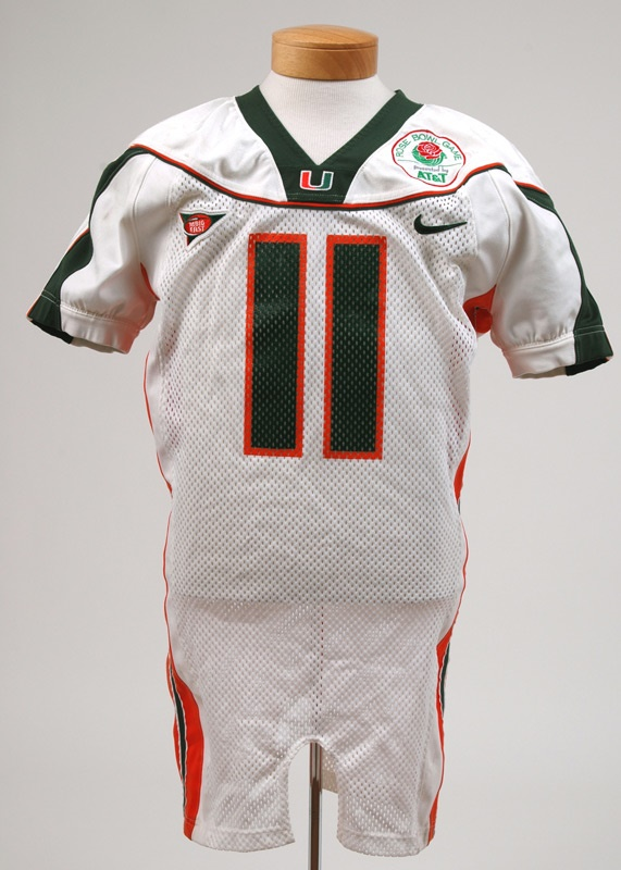 Ken Dorsey Miami Hurricanes 2000 Rose Bowl Game Used Jersey