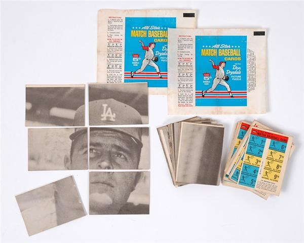 1966 Fleer All Star Match Baseball Complete Set of 66 w/ 2 Wrappers