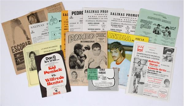Late 1960'-70's Latin Boxing Collection of Programs, Tickets & Hanbills (15)