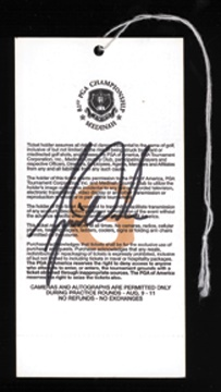 1999 Tiger Woods Signed Pass