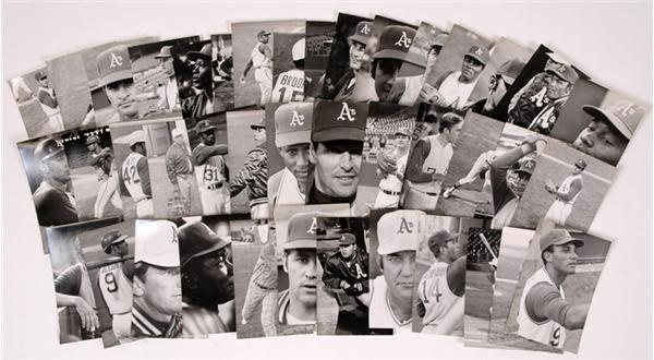 1969 Oakland A's Team Issue Real Photo Set