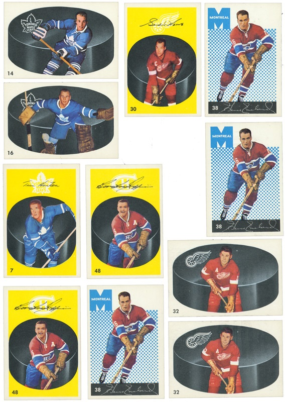 Collection of (65) 1962-63 High Grade Parkhurst Hockey Cards with Howe