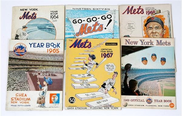1962-91 NY Mets Yearbooks (28) & Scorecards (30)